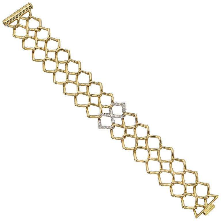 Tiffany & Co. Paloma Picasso Yellow Gold Diamond Bracelet