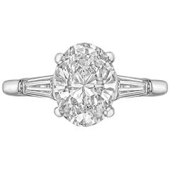 1.51 Carat Oval Brilliant-Cut Diamond Engagement Ring
