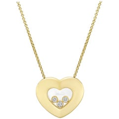 "Chopard ""Happy Diamonds"" Heart Pendant Necklace"