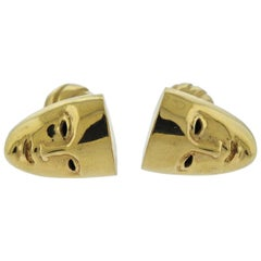 Tony Duquette Gold Mask Cufflinks