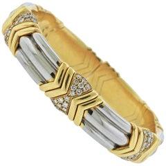 Bulgari Diamond Gold Bracelet