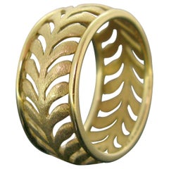Tiffany & Co. Palm Palm Leaf Yellow Gold Paloma Picasso Band Ring