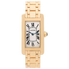 Cartier Ladies Yellow Gold Tank Americaine Quartz Wristwatch