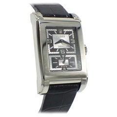 Rolex Cellini Prince 5443/9 18 Karat White Gold Black Dial