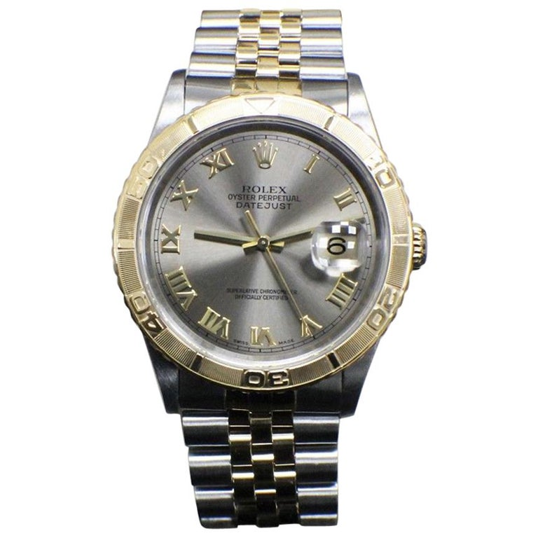 Rolex DateJust Turnograph Thunderbird 16263 18K Yellow Gold & Stainless Steel