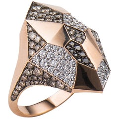 Molu Diamond Angular Gold Ring