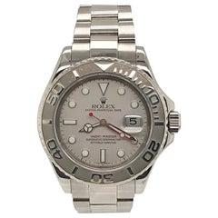 Rolex Platinum Stainless Steel Yachtmaster Bracelet Wristwatch, circa 2004