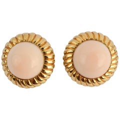 Angelskin Coral Gold Earrings