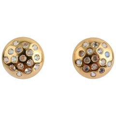 Moonstone Gold Button Earrings by Tous