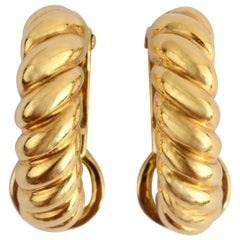 Pomellato Half Hoop Oval Earrings