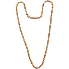 Tiffany & Co. Gold Wheat Chain Necklace