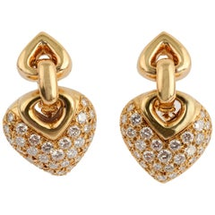 Bulgari Doppio Diamond Earrings with Additional Drops