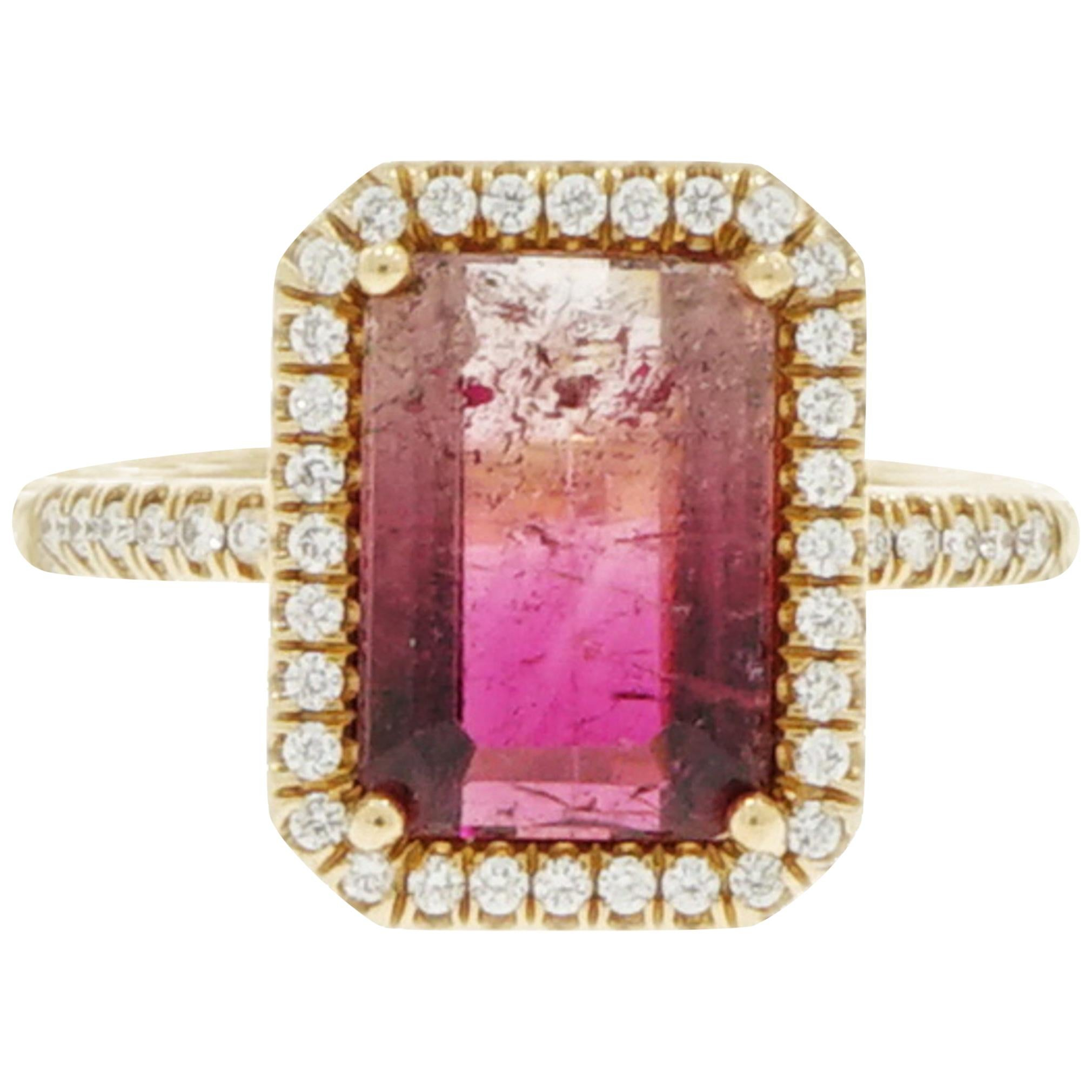Leslie Greene Diamond and Gold Ring For Sale at 1stdibs