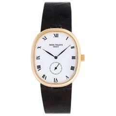 Patek Philippe Yellow Gold Ellipse Quartz Wristwatch Ref 3978