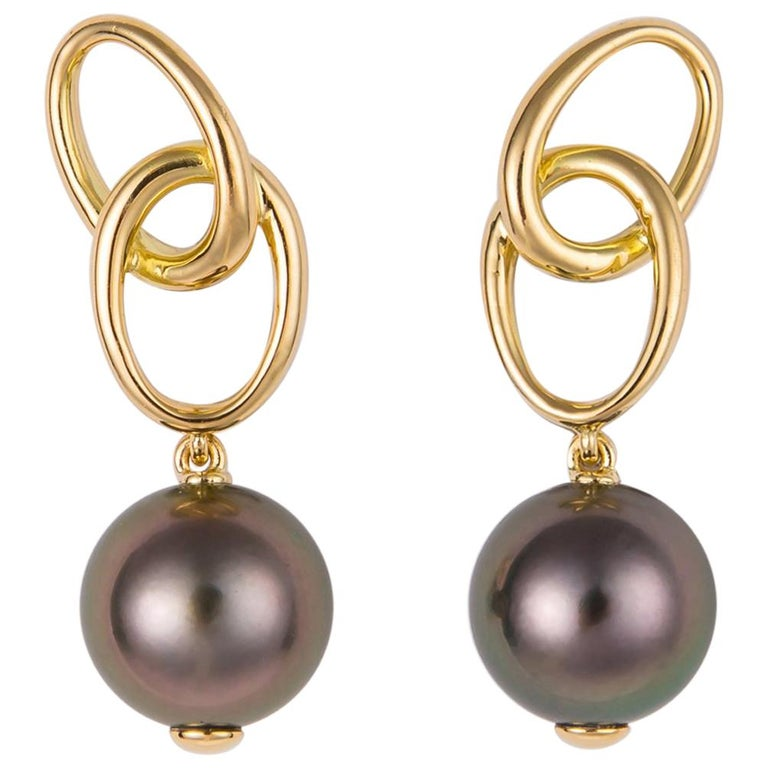 Elsa Peretti for Tiffany & Co. Tahitian Pearl Earrings