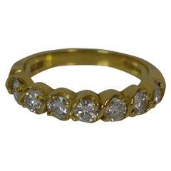 VS 0.70 Carat Diamond 18 Carat Gold Half Eternity Stack Ring