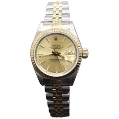 Rolex Ladies Datejust 69163 18-Karat Gold and Stainless Steel Jubilee Band