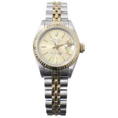 Rolex Ladies Datejust 69173 18 Karat Yellow Gold and Stainless Steel