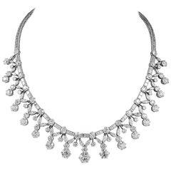Classic Platinum Diamond Necklace