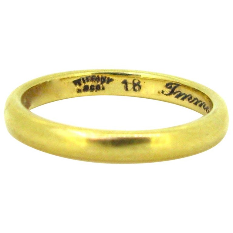 Immotus Tiffany & Co. Yellow Gold Wedding Band Ring