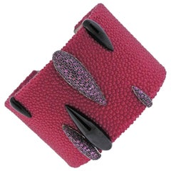 de Grisogono Galuchat Pink Sapphire Gold Pink Bracelet