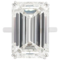 J. Birnbach GIA Certified 18.04 Carat Emerald Cut Diamond Ring