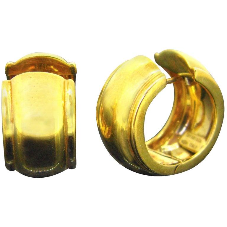 Tiffany & Co. Vintage Creoles Yellow Gold Hoop Earrings