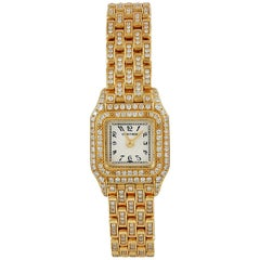Cartier Ladies yellow gold Diamond Mini Panthere Quartz Wristwatch