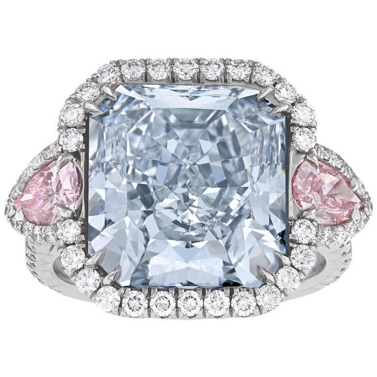 Fancy Blue Diamond Ring, 10.06 Carat