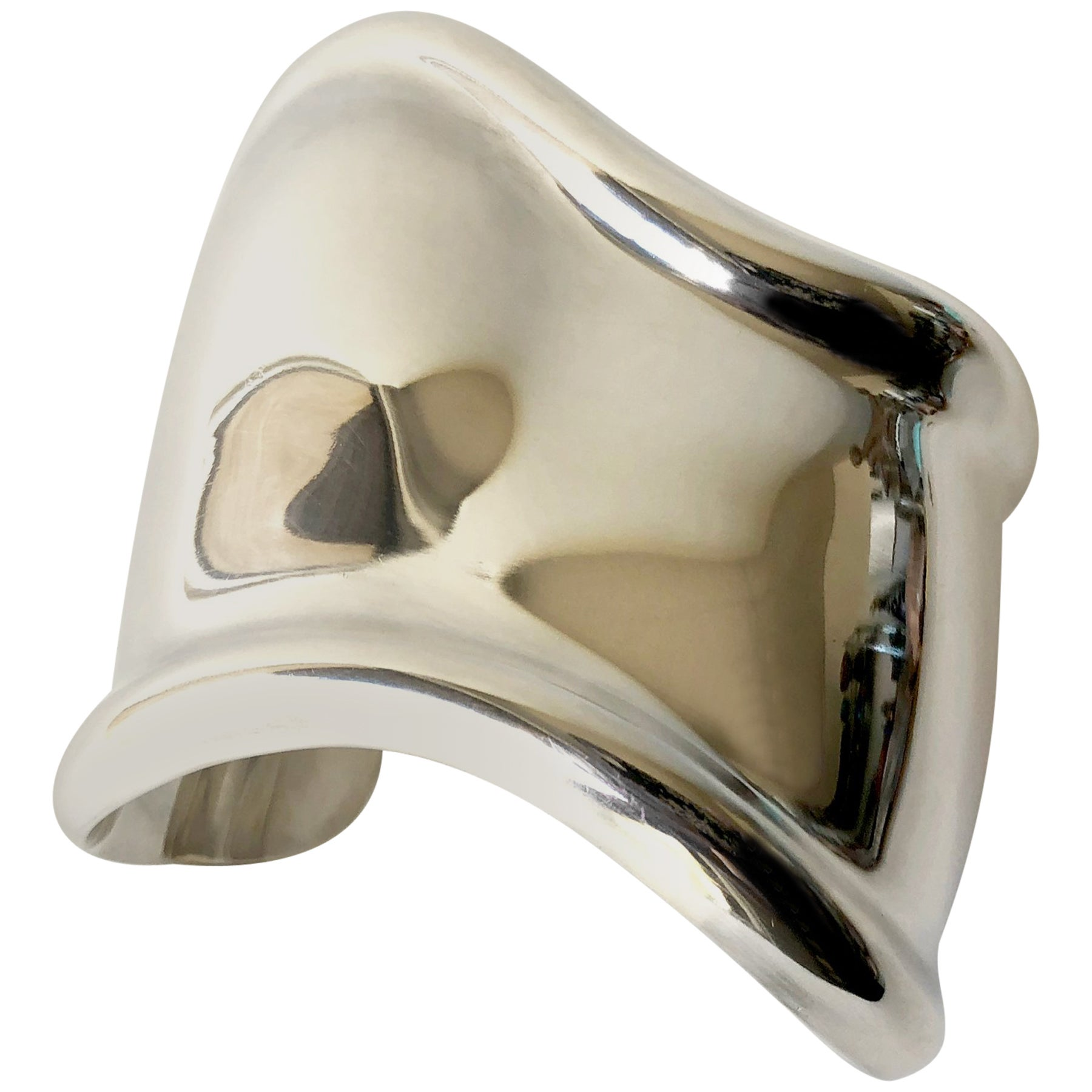 1ad5bad87 Vintage Elsa Peretti for Tiffany and Co. Sterling Silver Bone Cuff Bracelet  at 1stdibs