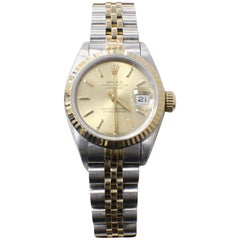 Rolex Ladies 69173 Datejust 18 Karat Yellow Gold and Stainless Steel