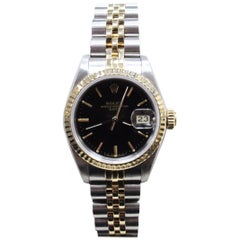 Rolex Ladies 69173 Date 18 Karat Gold and Stainless Steel with Box and Papers