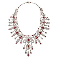 Belle Epoque Ruby and Diamond Necklace