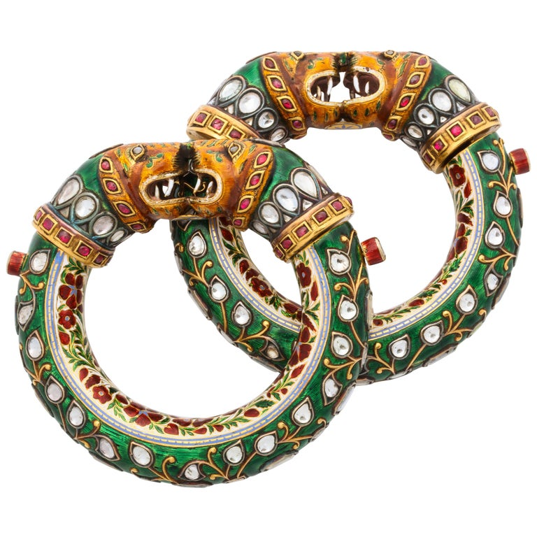 Historic Pair Of Indian Bangles For