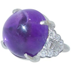 Art Deco Diamond and Amethyst Ring, circa 1935