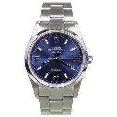 Rolex Air King 14000 Blue Dial Stainless Steel with Box and Papers