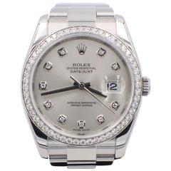 Rolex Datejust 116244 Diamond Dial and Diamond Bezel Steel