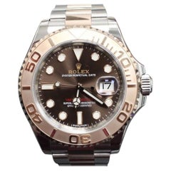 2017 Rolex 116621 Yacht Master 18K EverRose Gold & Stainless Steel Box & Papers