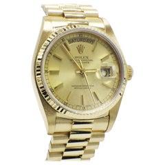 Rolex President Day Date 18038 18 Karat Yellow Gold Mint Condition