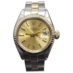 Rolex Ladies Datejust 6917 14 Karat Gold and Stainless Steel Champagne Dial