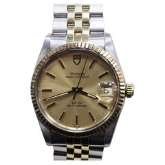 Rolex 75203 Tudor Prince Oyster Date 14 Karat Yellow Gold and Stainless Steel