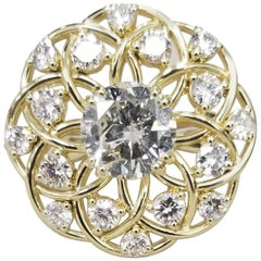 18 Karat Yellow Gold 3.03 Carat Diamond Ring
