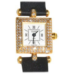 Van Cleef & Arpels yellow gold Diamond Classique quartz Wristwatch