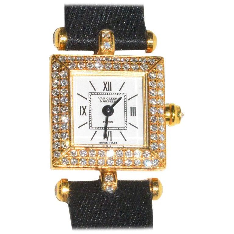 Van Cleef & Arpels yellow gold Diamond Classique quartz Wristwatch