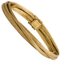 18 Karat Matt Gold Bracelet