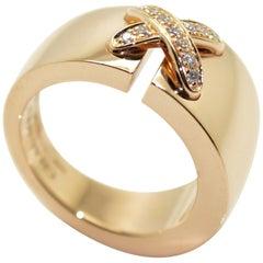 Chaumet 18 Karat Pink Gold and Diamonds Ring