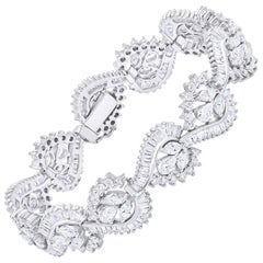 18 Karat White Gold 16.60 Carat Diamond Bracelet