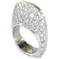 White Gold Ring with 4.75 Carat Pave Diamonds