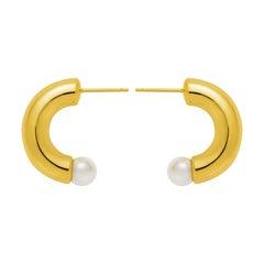 Gold Vermeil Anneal Pearl Earrings