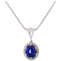 Kian Design 18 Carat White Gold 6.30 Carat Tanzanite and Diamond Neck-Piece